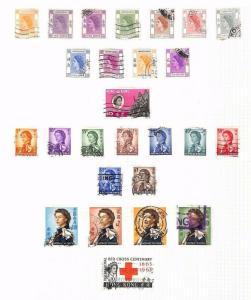 SA1318 QEII HONG KONG Original album page old-time collection