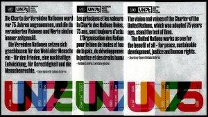 HERRICKSTAMP NEW ISSUES UNITED NATIONS 75th Anniv. of the U.N. S/S