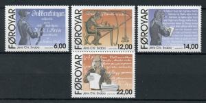 Faroes Faroe Islands 2010 MNH Jens Christian Svabo 4v Set Writers Stamps