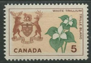 STAMP STATION PERTH Canada #419 Flowers and Arms 1964 MNH CV$0.25