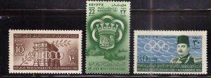 EGYPT Scott 292-294 MNH** 1951 stamp set