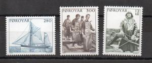Faroe Islands 112-114 MNH
