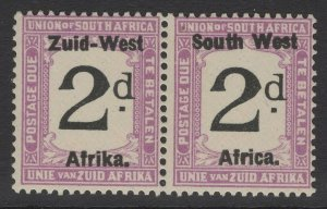 SOUTH WEST AFRICA SGD3 1923 2d BLACK & VIOLET MNH