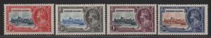 $Leeward Islands Sc#96-99 M/H/VF, Silver Jubilee, Cv. $35.75