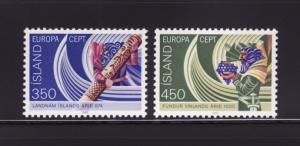Iceland 554-555 Set MNH Europa