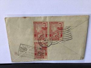 Burma 1949 via madras to Kilasevalpatti India surface stamps cover Ref R28050