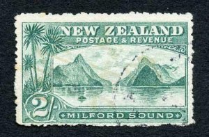 New Zealand SG328 2/- Green Perf 14 Cat 32 pounds