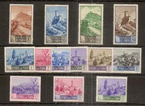San Marino 1949 Pictorials MNH (13v)