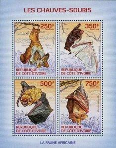 Bats Stamp Pipistrellus Tenupinnis Wild Animal S/S MNH #1569-1572