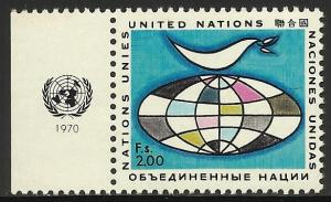 United Nations, Geneva 1970 Scott# 12 MNH w/ tab