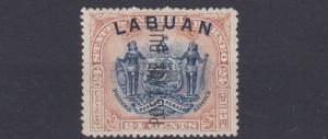 LABUAN  1901  S G D9B   24C  BLUE & LILAC BROWN  MH CAT £60