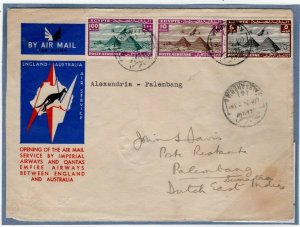 EGYPT Cover Air Mail Alexandria*PALEMBANG*Dutch East Indies Indonesia 1934 EP403