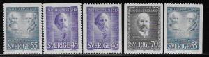 SWEDEN SC# 878-82  FVF/MNH 1970