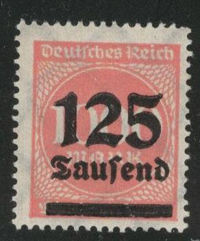 Germany Scott 255 MH* 1920's surcharged inflation period stamp
