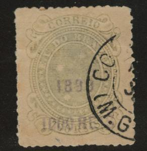 Brazil Scott 157 Used 1899 surcharged stamp toned paper