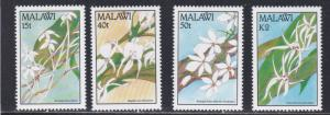 Malawi # 578-581, Orchids, NH, 1/2 Cat.