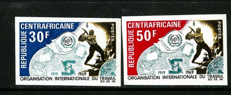 Central Africa Stamps # 116-17 XF OG NH Imperforate