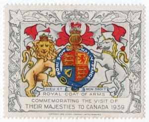 (I.B) Canada Cinderella : Royal Visit 1939 (Coat of Arms)
