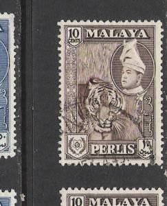 MALAYA PERLIS 34 VFU TIGER L889 C
