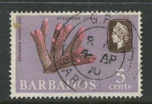 Barbados - Scott 271- QEII Pictorial Definitives  - 1965 -Used -Single 5c Stamps