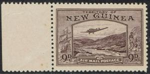 NEW GUINEA 1939 BULOLO AIRMAIL 9D MNH **