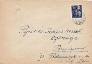 Hungary stamp domestic cover franking Cover 1946 WS122505