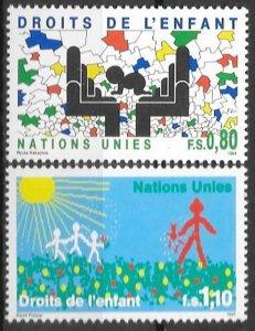 1991 UN Geneva 202-203 Rights of the Child 2,50 €