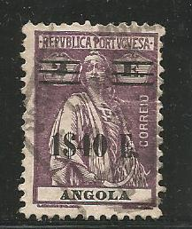ANGOLA 239, USED STAMP, CERES OVERPRINTED IN BLACK