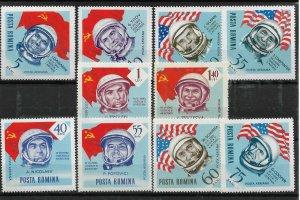 Romania 1964 Airmail,Space,Soviet & Americans Cosmonauts,Sc # C151-C160,VF MNH**