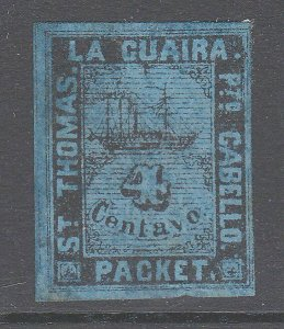 VENEZUELA  La Guiara ship local post - an old forgery  of this classic......D732
