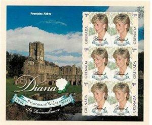 Grenada MNH S/S 9826 Princess Diana In Remembrance