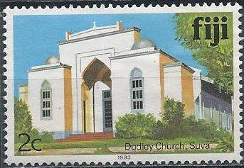 Fiji 410 (used) 2c Dudley Church, Suva (inscribed 1983)