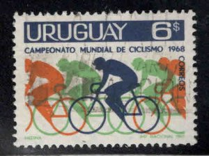 Uruguay Scott 765 Used Bicycle Race stamp