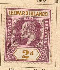 Leeward Islands 1902 Early Issue Fine Used 2d. NW-11904