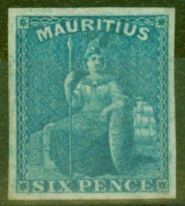 Mauritius 1858 Blue SG32 V.F & Fresh Unused CV £800