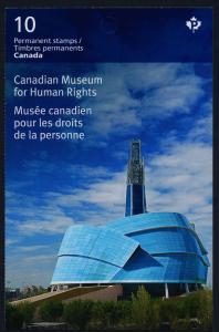 Canada 2771a Booklet MNH Museum for Human Rights, Architecture