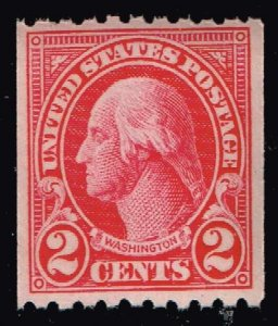 US STAMP #606  1923-29 COIL STAMP MNH/OG