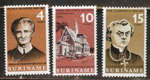 Suriname Scott 333-335 MNH** 1966 short set
