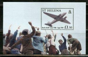 ST.HELENA 90th ANN OF THE ROYAL AIRFORCE SCOTT #946 SOUVENIR SHEET MINT NH
