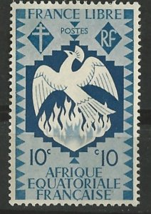 French Equatorial Africa # 143  Free French Phoenix  (1) Unused