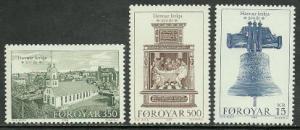 Faroe Is. #186-8 MNH Set - Havnar Church