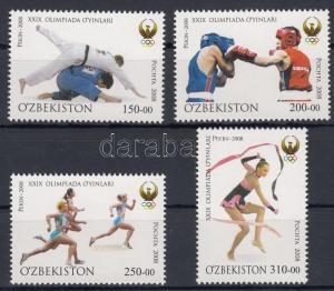 Uzbekistan stamp Summer olympics, Peking set 2008 MNH Mi 784-787 WS180618