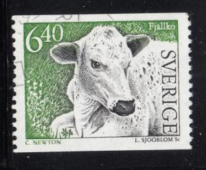 Sweden 1994 used Scott #2059 6.40k Mountain cow Coil