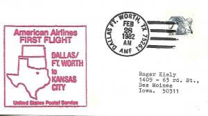 FFUS AA Dallas - Fort Worth AMF- Kansas City 2/28/82 AAMC# AA-D110Nf