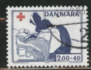 DENMARK  Scott B63 used Red Cross Nurse stamp 1983