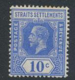 Straits Settlements George V  SG 203a Mint Hinged  spcaefiller