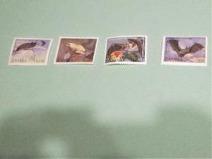 Zambia - 466-69, MNH Set. Bats. SCV - $5.75