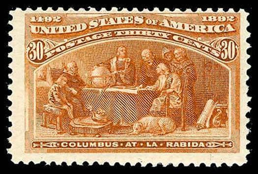 U.S. COLUMBIAN ISSUE 239  Mint (ID # 82959)