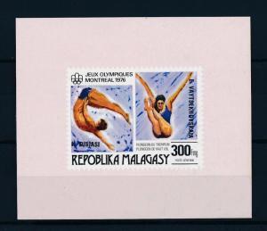 [55783] Madagascar 1976 Olympic games Diving Overprint MNH Sheet