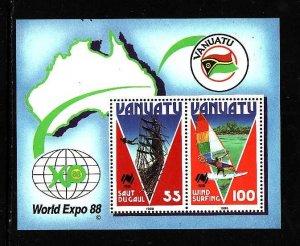 Vanuatu MNH S/S 479 Tourism 1988 SCV 4.50